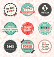 Retro Poker Card Labels vector image