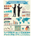 Set of infographic elements for design vector image