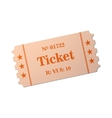 Image of ticket vector image