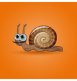 Isolated funny snail vector image vector image