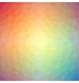 Light rainbow triangle gradient background vector image