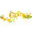 Orange and lime juice splash vector image vector image