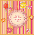 baby toy lacy frame greeting card decor kids vector image