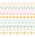 set of seamless baby ribbons vector image