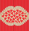 lips heart shape out of pencils valentines day vector image
