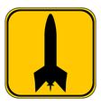 Rocket button vector image