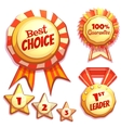 set of colored brightly badges vector image