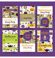Halloween Party Template Invitation Set in Modern vector image