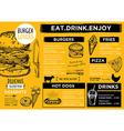 Restaurant cafe menu template design vector image