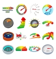 Meter icons set cartoon style vector image