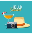 Summer design Vacation icon Colorful vector image vector image