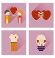 Set of flat icons with long shadow love icons vector image
