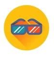 Cinema glasses icon vector image