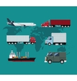 collection truck plane ship delivery shipping vector image