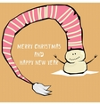comic cartoon merry christmas vector image