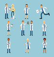 hospital medical staff set of practitioner young vector image