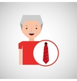 man gift red tie graphic vector image