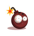round bomb with lit burning fuse vector image
