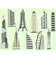 Tall buildings vector image