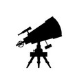 telescope silhouette on white background vector image