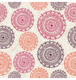 Vintage circle elements seamless pattern vector image