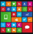 set of web navigation icons in metro style vector image vector image
