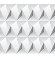 White rhombus concept seamless texture vector image vector image