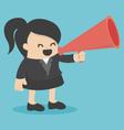 businesswoman announced vector image