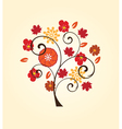 fall tree vector image