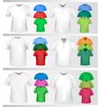 polo shirts and t-shirts vector image vector image