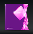 Abstract purple and pink diamond background vector image