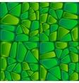 Green bricks abstract seamless pattern vector image