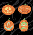 Halloween jack o lanterns vector image