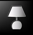 lamp sign gray 3d printed vector image