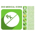 Medication Tablet Icon and Medical Longshadow Icon vector image