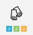 of hygiene symbol on mitten vector image