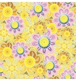 Ornate floral seamless pattern with flowers vector image
