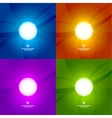 Set of colorful shiny design templates vector image