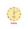 yellow simple sundial icon vector image