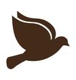 cute bird animal isolated vector image