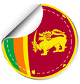 sticker design for sri lanka flag vector image vector image