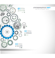 Infographic design template with gear chain vector image vector image