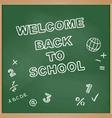 Welcome back to school School board vector image