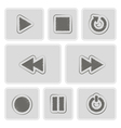 monochrome player icons vector image