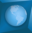 globe on blue background vector image vector image