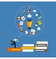 Learning Training to Make your Career Progress vector image