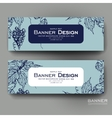 Beautiful banner template with grapes vector image