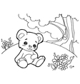 bear cartoon coloring pages vector image