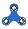 blue hand fidget spinner vector image