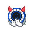 Devil qash coin mascot cartoon vector image